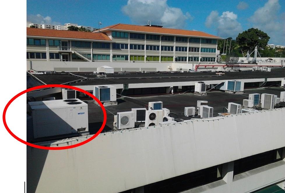 Climatiseur autonome de toiture probablement pour for Air climatise interieur