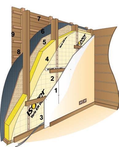 Les diff rents types de maisons ossature bois - Plaque de platre exterieur ...